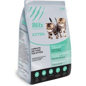 Сухой корм Blitz Petfood Superior Nutrition Kitten с индейкой для котят, беременных и кормящих кошек 2кг цены