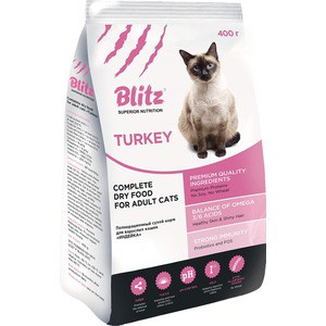 Сухой корм Blitz Petfood Superior Nutrition Adult Cats with Turkey с индейкой для взрослых кошек 2кг сухой корм blitz petfood superior nutrition adult dog small breeds up to10kg with lamb