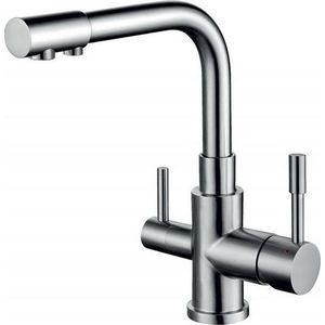 Смеситель для кухни ZorG AER с подключением к фильтру, сталь (SZR-1339 M) zorg inox szr 1339 f a