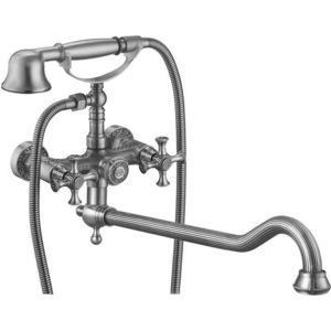 Смеситель для ванны ZorG Antic серебро (A 7001WDN-SL)