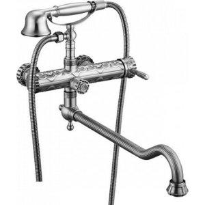 Смеситель для ванны ZorG Antic серебро (A 101WDN-SL)