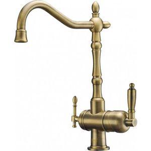 Смеситель для кухни ZorG с подключением к фильтру, бронза (ZR 326-33 YF BR) смеситель для ванны zorg cologne zr 106 w