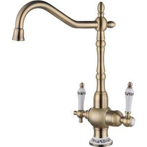 Смеситель для кухни ZorG с подключением к фильтру, бронза (ZR 336 YF-50 BR) смеситель для ванны zorg cologne zr 106 w