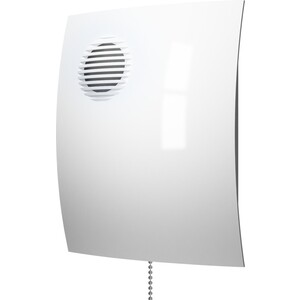 Вентилятор DiCiTi осевой вытяжной с шнуровым тяговым выключателем D 100 (PARUS 4-02) накладной вентилятор эра parus 4 02