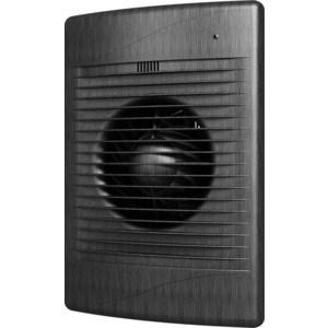 Вентилятор DiCiTi осевой вытяжной с обратным клапаном D 100 декоративный (STANDARD 4C black Al) вентилятор эра с обратным клапаном d125