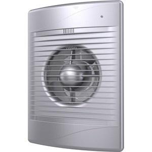 Вентилятор DiCiTi осевой вытяжной с обратным клапаном D125 декоративный (STANDARD 5C gray metal)
