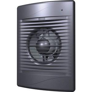 Вентилятор DiCiTi осевой вытяжной с обратным клапаном D125 декоративный (STANDARD 5C dark gray met)