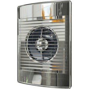 Вентилятор DiCiTi осевой вытяжной с обратным клапаном D125 декоративный (STANDARD 5C Chrome)