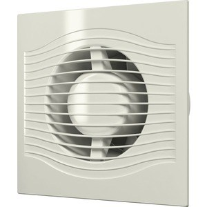 Вентилятор DiCiTi осевой вытяжной с обратным клапаном D 100 декоративный (SLIM 4C Ivory)