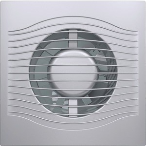 Вентилятор DiCiTi осевой вытяжной с обратным клапаном D 100 декоративный (SLIM 4C gray metal)
