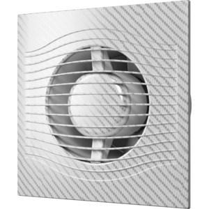 Вентилятор DiCiTi осевой вытяжной с обратным клапаном D 100 декоративный (SLIM 4C white carbon) вытяжной вентилятор supra vs 1614r white blue