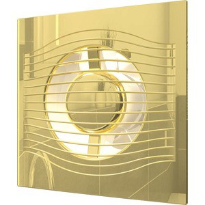 Вентилятор DiCiTi осевой вытяжной с обратным клапаном D 100 декоративный (SLIM 4C Gold)