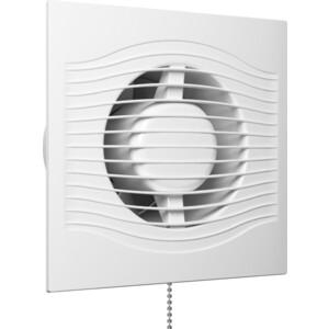 Вентилятор DiCiTi осевой вытяжной с обратным клапаном шнуровым тяговым выключателем D 100 (SLIM 4C-02) фото
