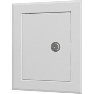 Люк-дверца EVECS ревизионная 280х360 с фланцем 220х300 замком стальная покрытием полимерной эмалью (ЛТ2230МЗ)