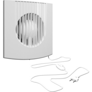 Вентилятор Era осевой вытяжной с обратным клапаном сетевым кабелем и выключателем D 125 (FAVORITE 5C-01) дефлекторы на окна с хромом для great wall hover m4 2012