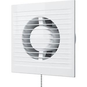 Вентилятор AURAMAX осевой вытяжной с обратным клапаном и тяговым выключателем D 125 (A 5C-02) вентилятор era осевой вытяжной с обратным клапаном шнуровым тяговым выключателем d 125 era 5c 02