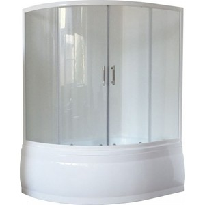 Шторка на ванну Royal Bath Alpine 140 прозрачная, белый (RB140ALP-T)