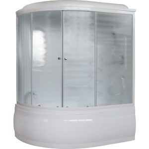 Душевая кабина Royal Bath ALP 170х100х225 стекло шиншилла, правая (RB170ALP-C-R) душевой уголок royal bath 120 80 198 стекло шиншилла правый rb8120hp c r