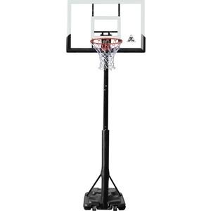 Баскетбольная мобильная стойка DFC STAND52P 132x80 см поликарбонат раздижная регулировка фото