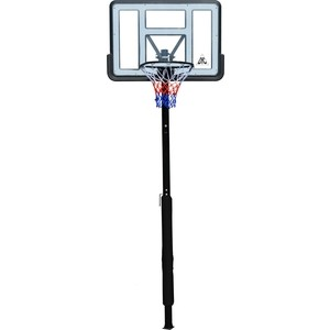 Баскетбольная стационарная стойка DFC ING44P1 112x75 см акрил винтовая регулировка пылесос polaris pvc 1618bb