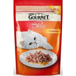 цена Паучи Gourmet Mon Petit с лососем для кошек 50г (12287079) онлайн в 2017 году