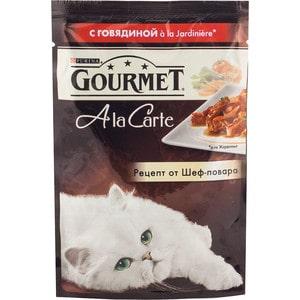 Паучи Gourmet A la Carte с говядиной Jardiniere рецепт от шеф-повара для кошек 85г (12242376)
