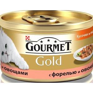 Консервы Gourmet Gold кусочки в соусе с форелью и овощами для кошек 85г (12109500)