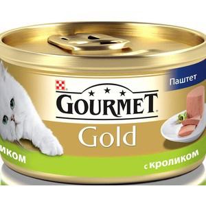 Консервы Gourmet Gold паштет с кроликом для кошек 85г (12182548) фото