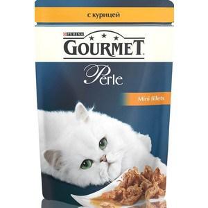 Паучи Gourmet Perle Mini Fillets с курицей для кошек 85г (12222445)