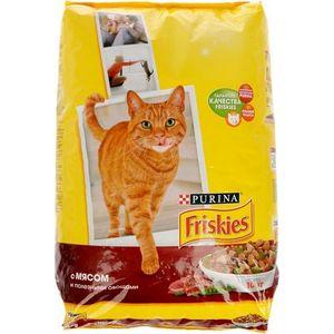 Купить Сухой корм Friskies с мясом и полезными овощами для кошек 10кг (12053617)