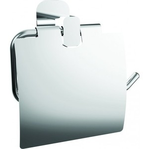 Держатель туалетной бумаги Kaiser Oval с крышкой, хром (KH-2040)