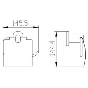 Держатель туалетной бумаги Kaiser Oval хром (KH-2040) ершик настенный kaiser konus хром kh 2026