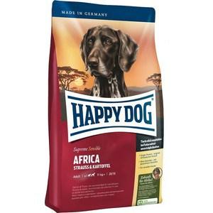 Сухой корм Happy Dog Supreme Sensible Adult 11kg+ Africa Ostrich&Potato с мясом страуса и картофелем для собак средних крупных пород 12,5кг (03548)
