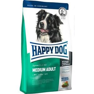Сухой корм Happy Dog Supreme Fit & Well Medium Adult 11-25kg с мясом птицы облегченный для собак средних пород 12,5кг (60007)