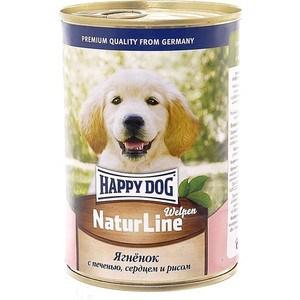 Консервы Happy Dog Natur Line Welpen ягненок с печенью, сердцем и рисом для щенков 400г (72189) все цены
