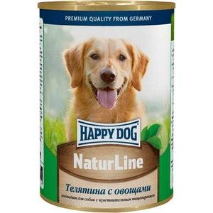 Консервы Happy Dog Natur Line телятина с овощами для собак 400г (71441) консервы happy dog natur line кролик для собак 85г 71499