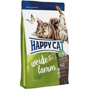 Сухой корм Happy Cat Adult Farm Lamb пастбищный ягненок для взрослых кошек 4кг (70031/70189) сухой корм happy cat adult bavarian beef альпийская говядина для взрослых кошек 10кг 70202
