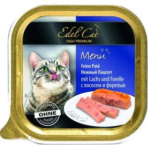 Фото - Консервы Edel Cat Menu нежный паштет с лососем и форелью для кошек 100г (17401) консервы simba petfood cat pate with fish с рыбой паштет для кошек 100г
