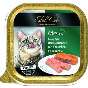 Фото - Консервы Edel Cat Menu нежный паштет с кроликом для кошек 100г (17402) консервы simba petfood cat pate with fish с рыбой паштет для кошек 100г