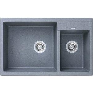 Кухонная мойка Kaiser Granit KG2M-8050 Grey серая (KG2M-8050-G)