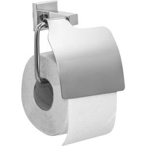 Держатель туалетной бумаги Milardo Labrador с крышкой, хром (LABSMC0M43)