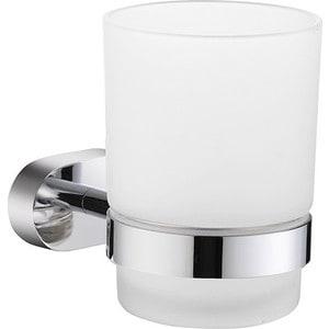 Стакан для ванны Milardo Solomon матовое стекло/хром (SOLSMG0M45) мыльница milardo solomon матовое стекло хром solsmg0m42