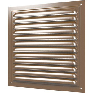 Решетка Era вентиляционная с покрытием полимерной эмалью сеткой 300х300 Сталь коричневая (3030МЭ кор)
