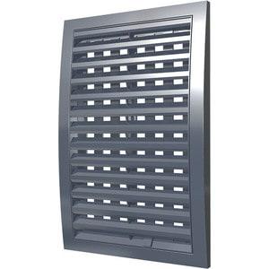 Решетка Era наружная ASA вентиляционная регулируемая 350х350 серая (3535РРПН сер)