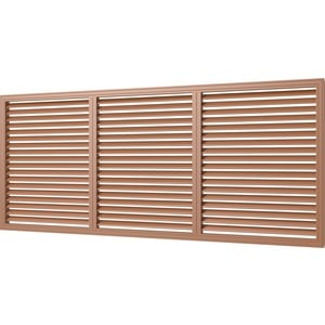Решетка Era вентиляционная профиль ПВХ 600х1500 вишня (П60150Р вишня)