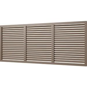 Решетка Era вентиляционная профиль ПВХ 600х1500 дуб (П60150Р дуб)