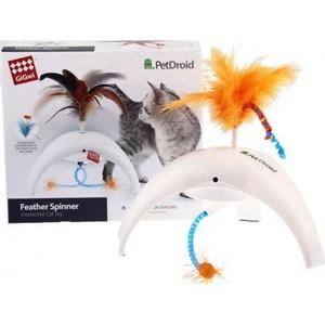 Игрушка GiGwi PetDroid Feathe Spinner интерактивная со звуковым чипом для кошек (75312)