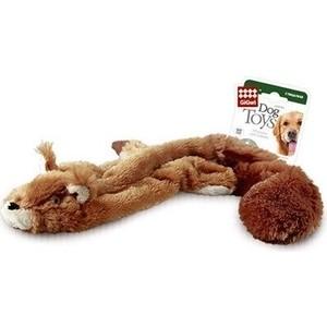 Игрушка GiGwi Dog Toys Squeaker белка с 2-мя пищалками для собак (75012) игрушка gigwi dog toys squeaker кот с большой пищалкой для собак 75227