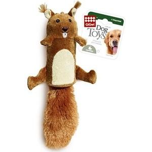 Игрушка GiGwi Dog Toys Squeaker белка с большой пищалкой для собак (75015) игрушка gigwi dog toys squeaker кот с большой пищалкой для собак 75227
