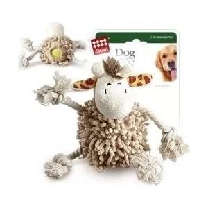 Игрушка GiGwi Dog Toys Squeaker жираф с теннисным мячом для собак (75072)